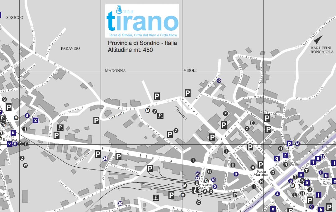 la mappa di Tirano