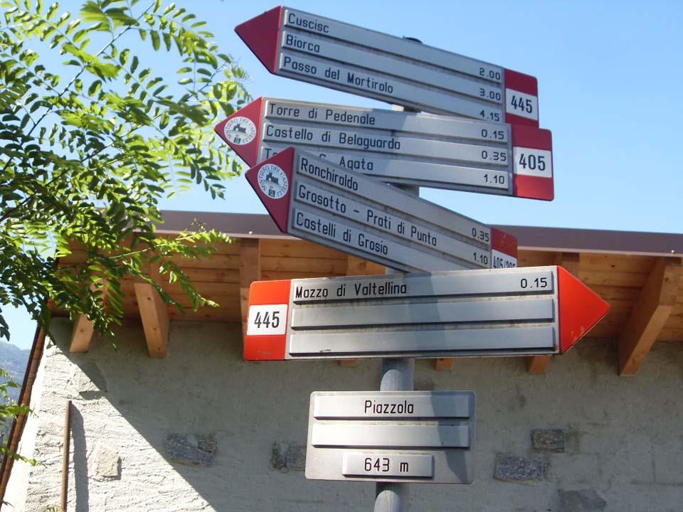 Sentiero dei castelli a Tirano